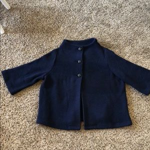 Navy Jacket with Wood buttons 2X